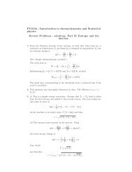 PY2104 - Introduction to thermodynamics and Statistical physics ...