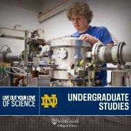 Undergraduate Studies booklet (3.21MB PDF) - College of Science