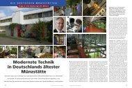 Modernste Technik in Deutschlands ältester Münzstätte - Deutsches ...