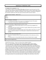 Junior Student Abstract Writing Tips