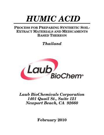 HUMIC ACID - Laub BioChem