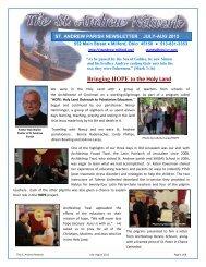 July/August 2012 - Saint Andrew Parish