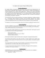 Facility Information - Saint Andrew Parish