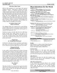 Bulletin - Saint Andrew Parish