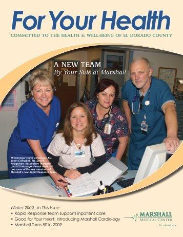 A NEW TEAM - Marshall Medical Center