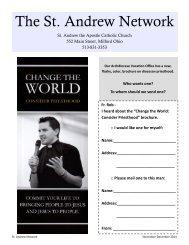 Newsletter - Saint Andrew Parish