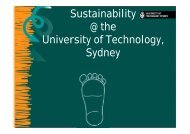 Sustainability @ the University of Technology, Sydney - Tertiary ...