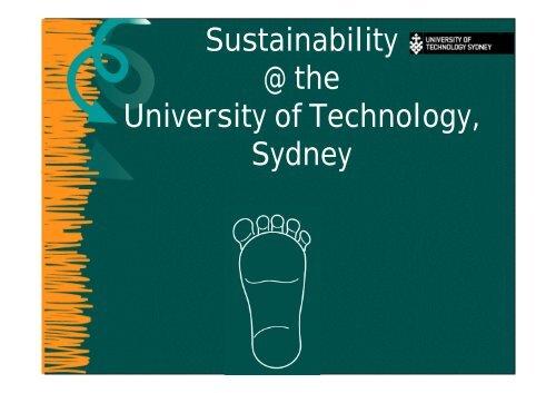 Sustainability @ the University of Technology, Sydney - Tertiary ...
