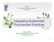 Sustainable procurement - Tertiary Education Facilities ...