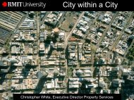 RMIT – City within a City - Tertiary Education Facilities Management ...