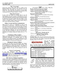 scripture readings for the week of the trinity - Saint Andrew Parish