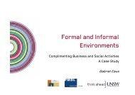 Formal and Informal Environments