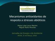 Mecanismos antioxidantes de resposta a stresses abióticos - UIQA