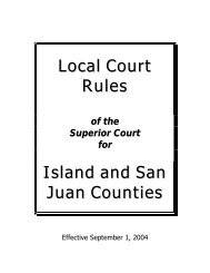 Local Court Rules Island and San Juan Counties - San Juan County