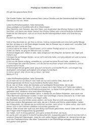 Predigt zur Goldenen Konfirmation - Evangelische ...