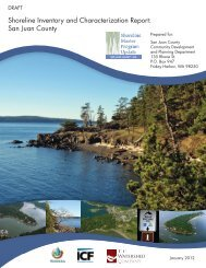 shoreline inventory and characterization report - San Juan County