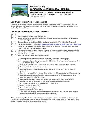 San Juan County Building Permit Application