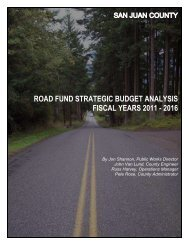 road fund strategic budget analysis fiscal years ... - San Juan County