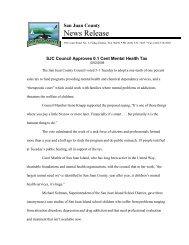 News Release - San Juan County