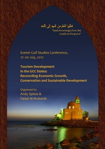 Tourism Development & Heritage Preservation in the GCC ... - NDRD