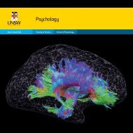 Psychology - UNSW Science - University of New South Wales