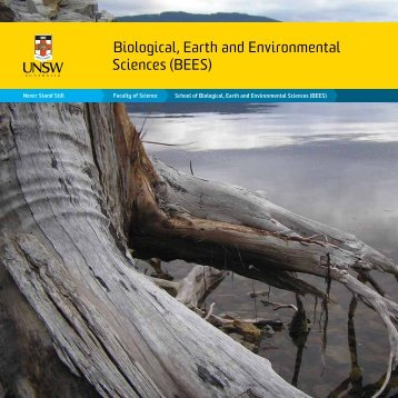 Biological, Earth and Environmental Sciences ... - UNSW Science