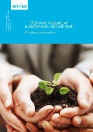 Duševné vlastníctvo a zachovanie mlčanlivosti - NPTT - Centrum ...