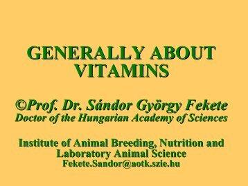 stability of vitamins - Dietvet-Holistic Bevezetés