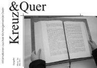 Neues aus dem CVJM - Evangelische Kirchengemeinde Owen