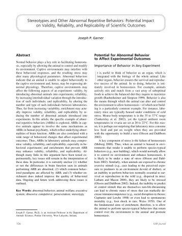 Ilar 2005 (pdf) - Dietvet-Holistic Bevezetés