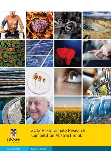 2012 Postgraduate Research Competition Abstract ... - UNSW Science