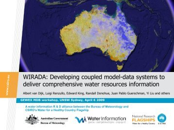 WIRADA: Developing coupled model-data systems to deliver ...