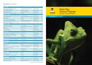 Open Day Science Program - UNSW Science
