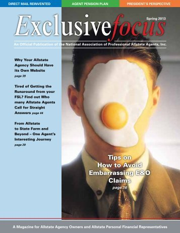 Exclusivefocus Spring 2013 - National Association of Professional ...