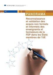 Reconnaissance et validation des acquis non ... - Cedefop - Europa