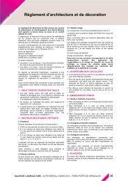 Règlement d'architecture et de décoration - Espace Exposant SIA ...