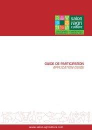 Consultez le guide de participation complet - Espace Exposant SIA ...