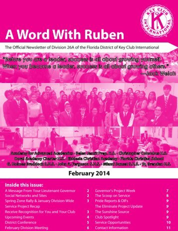 Division 26A February 2015 Newsletter