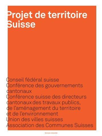 Projet de territoire Suisse - Arc Jurassien