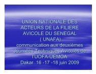 UNION NATIONALE DES ACTEURS DE LA ... - fao ectad bamako