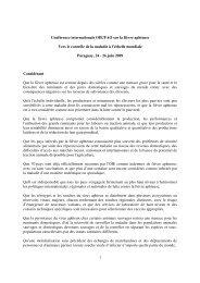 1 Conférence internationale OIE/FAO sur la fièvre aphteuse Vers le ...