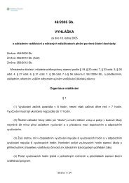 48/2005 Sb. VYHLÁŠKA - Lide na UHK