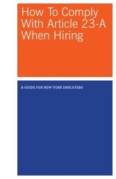 How To Comply With Article 23-A When Hiring - JobsFirst NYC