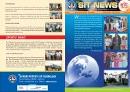 SIT NEWS SIT - Sri Sairam Institute of Technology