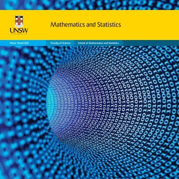 Mathematics and Statistics - UNSW Science - The University of New ...