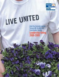 Leadership Giving 2008-2009 - United Way of Central and ...
