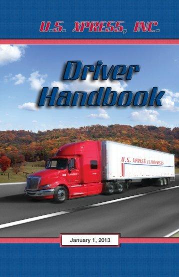 2013 Driver Handbook Complete.pdf - US Xpress