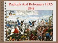 RADICALS AND REFORMERS 1832-1848