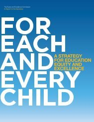 For Each and Every Child - Boys and Men of Color