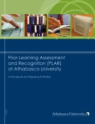 PLAR Handbook - Centre for Learning Accreditation - Athabasca ...